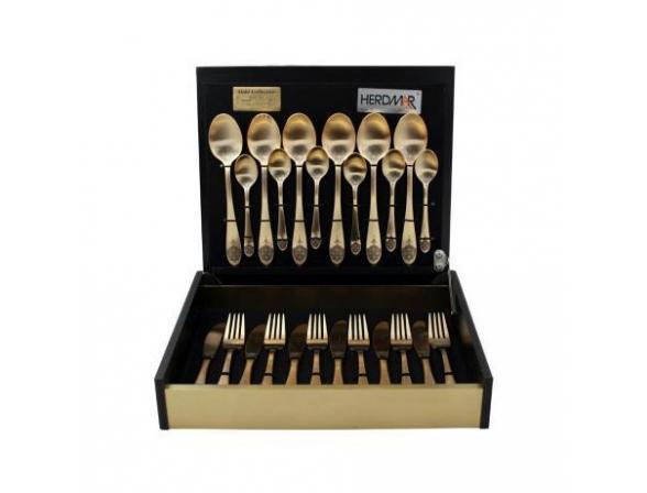 Набор столовых приборов HERDMAR ATLANTA OLD GOLD #5 24 пр. 027302467ELE13
