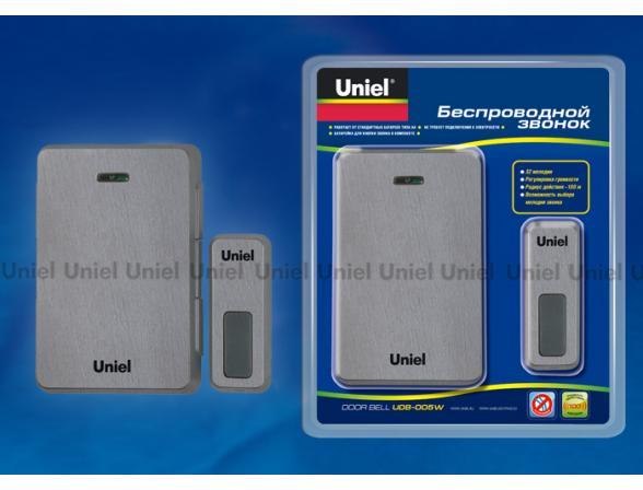 Звонок беспроводной Uniel UDB-005W-R1T1-32S-100M-DS