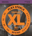 Струны для 4-х струнной бас-гитары D'ADDARIO FlexSteels Bass EFX160 Medium, 50-105, Long Scale