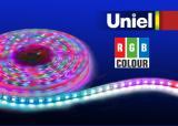 Светодиодная лента Uniel ULS-5050-60LED/m-10mm-IP67-DC12V-14,4W/m-5M-RGB катушка в герметичной упаковке