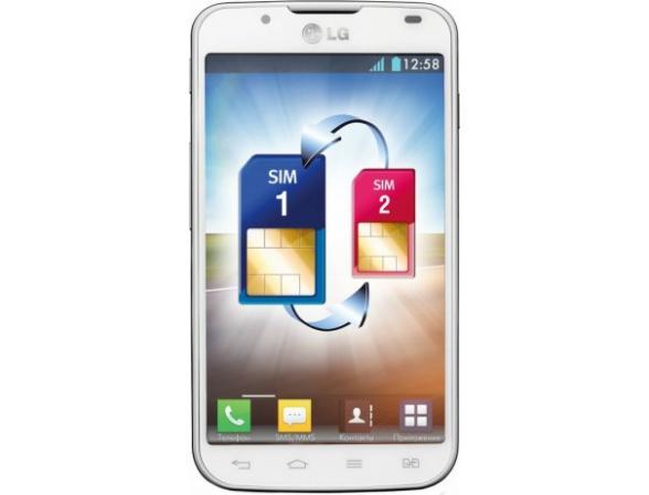 Смартфон LG Optimus L7 II Dual P715 White