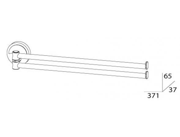 Держатель полотенец поворотный двойной FBS ELLEA 35 см ELL 044