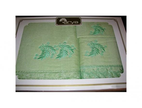 Комплект полотенец ARYA хлопок с вышивкой MARGHERITA