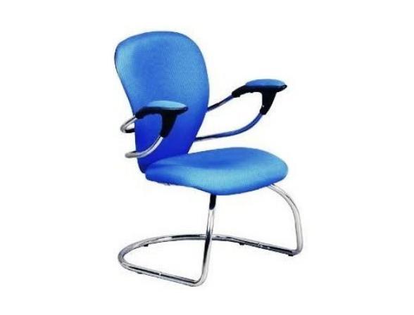 Кресло посетителя на полозьях BURO CH-661AXSN-V/Blue
