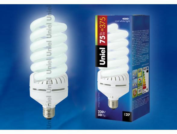 Лампа энергосберегающая Uniel ESL-S13-75/4000/E27