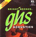 Струны для 12-ти струнной гитары GHS BB60X бронза 80/20 (009-012-015-26-34-42); Bright Bronze 80/20