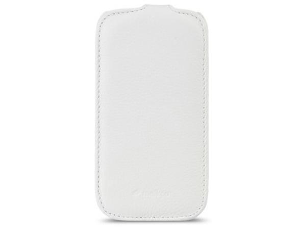 Melkco Premium Leather Case for Samsung Galaxy S3 Mini i8190  - Jacka Type (White LC)