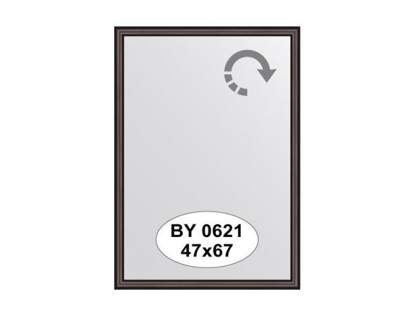 Зеркало в багетной раме EVOFORM махагон (47х67 см) BY 0621