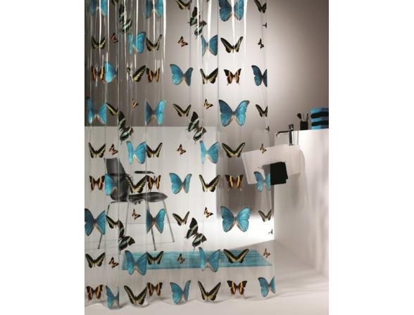 Шторка SEALSKIN Butterfly 180х200, винил, разноцветный (210571302)