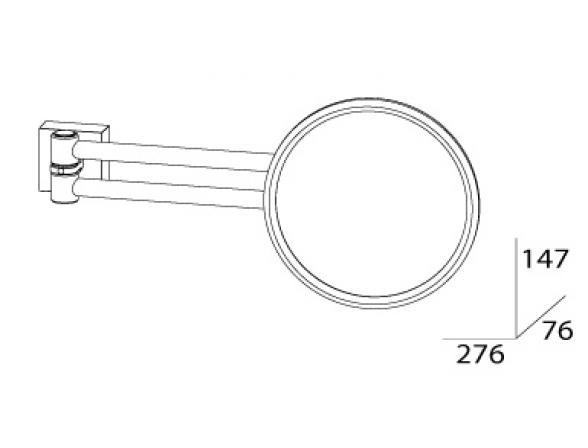 Зеркало косметическое настенное FBS ESPERADO ESP 020
