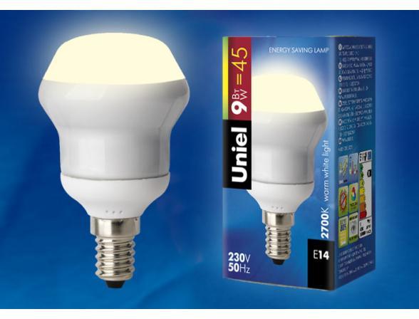 Лампа энергосберегающая Uniel ESL-RM50-9/2700/E14 S