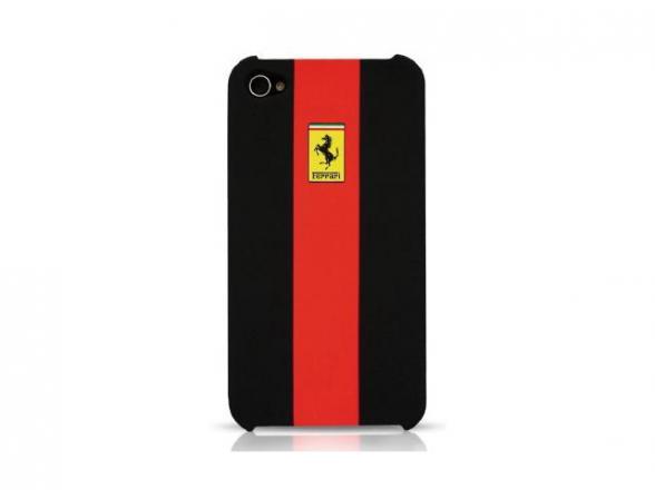 Чехол Ferrari для iPhone 4/4s Hard Case Rubber Touch (красный)