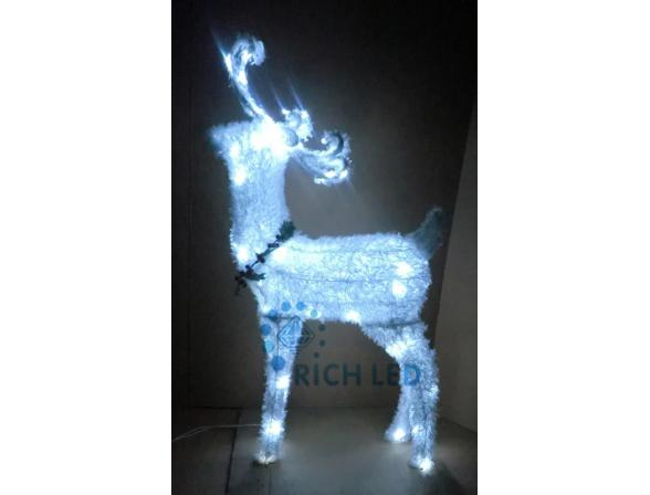 Фигура Rich LED Олень 95*55*20 см, цвет: белый