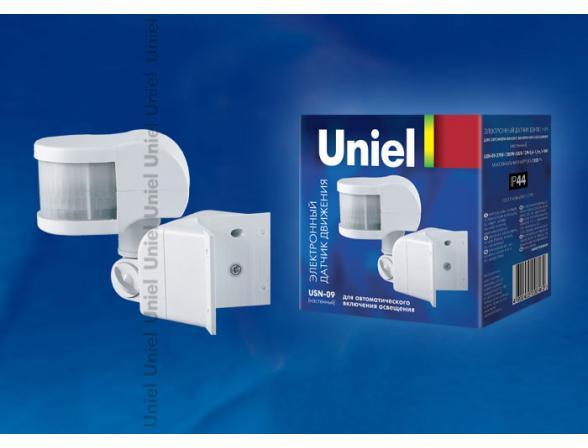 Датчик движения Uniel USN-09-270R-1200W-3LUX-12M-0,6-1,5m/s-WH