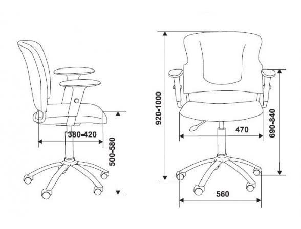 Кресло BURO CH-H323AXSN/B