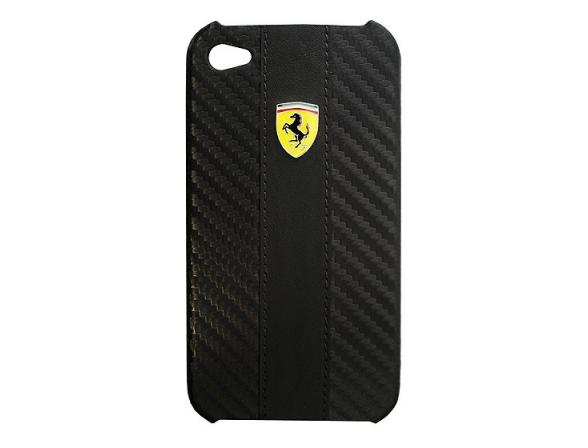 Чехол Ferrari для iPhone 4/4s Hard Case Carbon (красный)