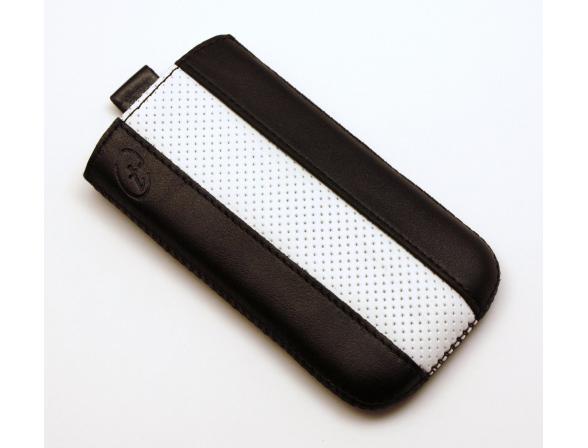 Чехол Time с ремешком комбинированный HTC Sensation XL черный с белым