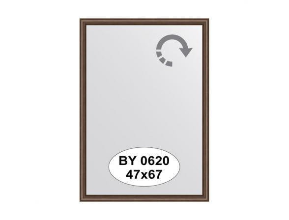 Зеркало в багетной раме EVOFORM орех 22 mm (47х67 см) BY 0620