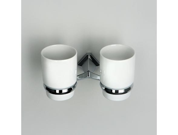 Подстаканник двойной WasserKRAFT Aller К-1128DC, керамика