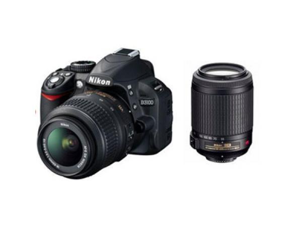 Зеркальный фотоаппарат Nikon D3100 Kit 18-55 VR+55-200 VR