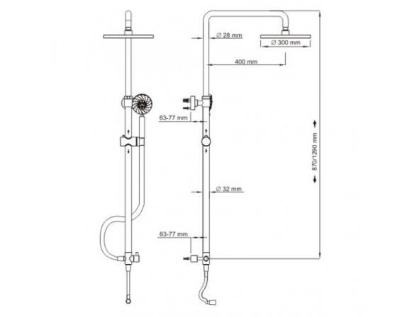 Душевой комплект WasserKRAFT А026