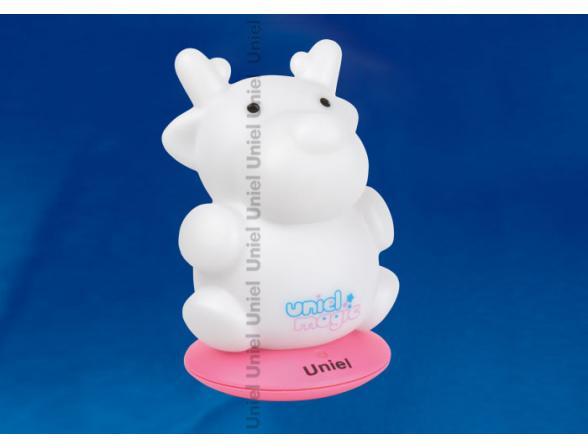Светильник-ночник Uniel DTL-305-Лосенок/3color/Base pink/Rech
