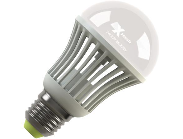 Светодиодная лампа X-flash Bulb E27 7 Вт, жёлтый свет, матовая колба 42869