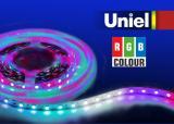 Светодиодная лента Uniel ULS-5050-60LED/m-10mm-IP33-DC12V-14,4W/m-5M-RGB катушка в герметичной упаковке