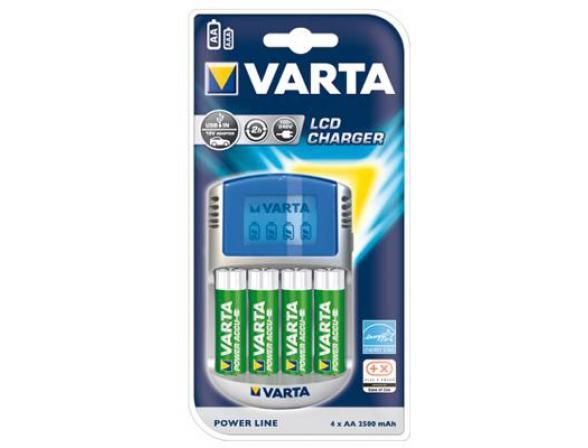 Зарядное устройство Varta Power Play LCD 4xAA 2500 & 12V & USB