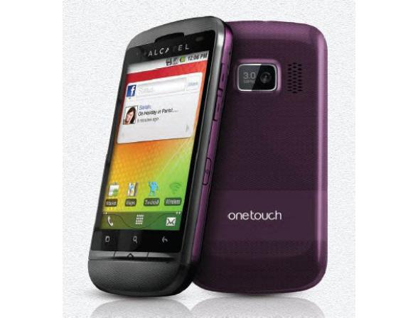 Телефон Alcatel OT918D Aubergine (Фиолетовый)