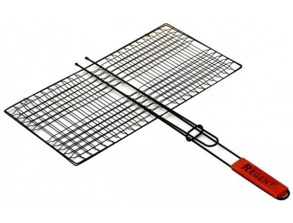 Решетка-гриль  плоская с антипригарным покрытием Regent Inox Picnic 93-PIC-71-2