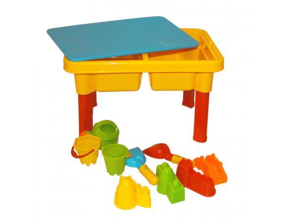 Стол-Песочница EDU-PLAY Вселый Пляж + 9 предметов