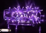 Светодиодная гирлянда Rich LED 10 м, 220В,  мерцающая, с герметичным колпачком, цвет фиолетовый.