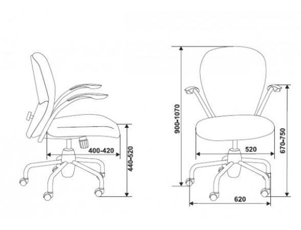 Кресло BURO CH-373AXSN/41-15