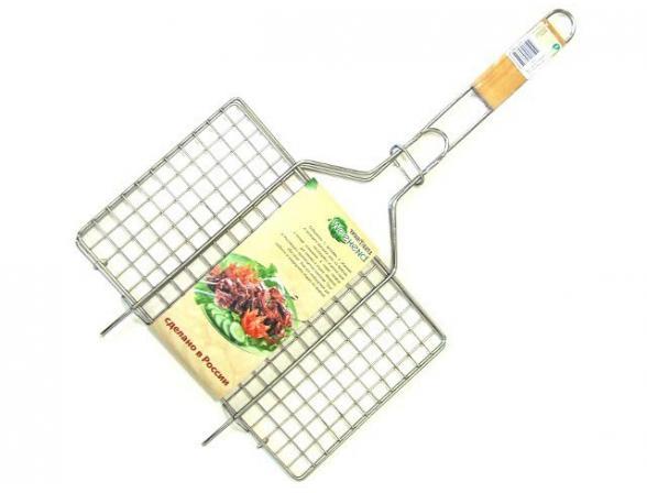 Решетка для барбекю Труд 781  универс. нерж.  №2 (23х36см)