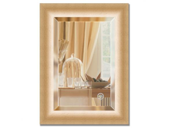 Зеркало в багетной раме EVOFORM травленое золото (56х76 см) BY 1131