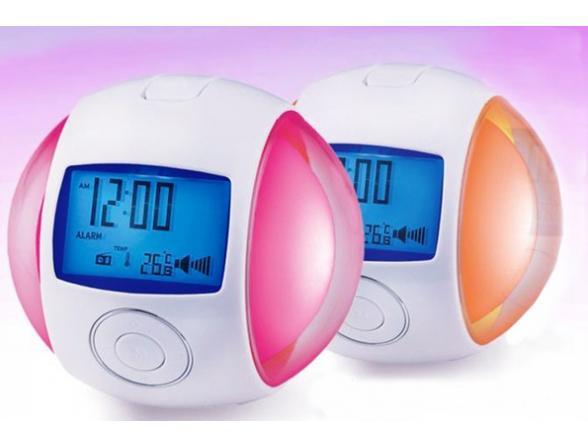Часы-светильник ЭРА 635124