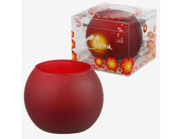 Светодиодная свеча в стакане ЭРА C15-RED (24/600)