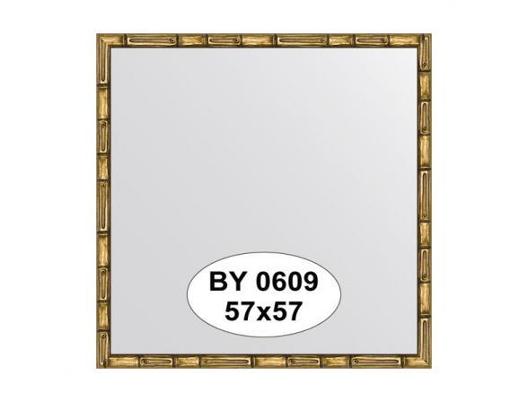 Зеркало в багетной раме EVOFORM золото/бамбук (57х57 см) BY 0609