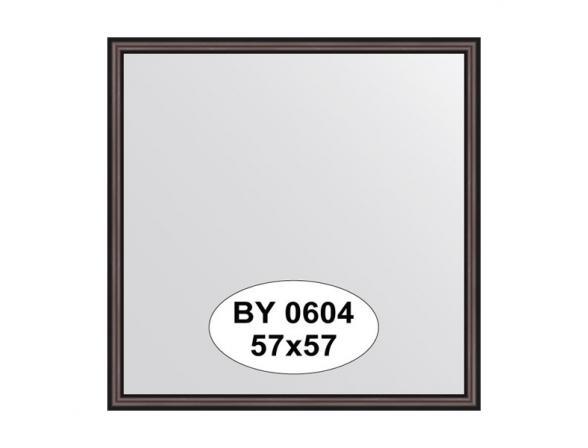 Зеркало в багетной раме EVOFORM махагон (57х57 см) BY 0604
