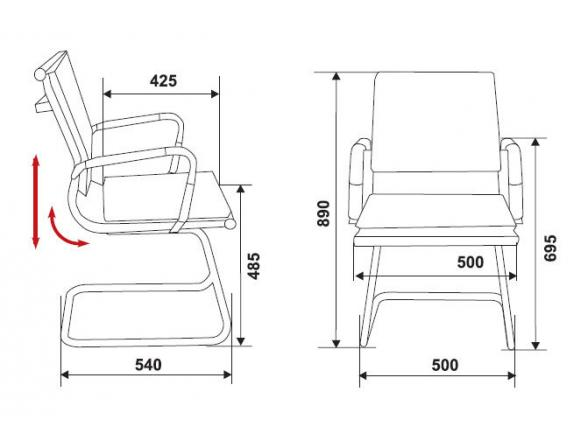 Кресло BURO CH-993-Low-V/black