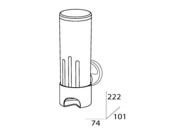 Контейнер для косметических дисков (пластик) FBS LUXIA LUX 019
