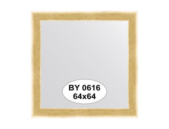 Зеркало в багетной раме EVOFORM травленое золото (64х64 см) BY 0616