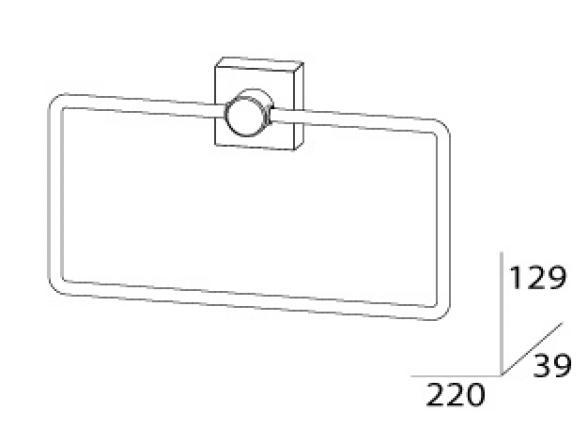 Кольцо для полотенца FBS ESPERADO ESP 022
