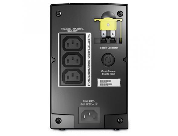 Источник бесперебойного питания APC Back-UPS RS 500, 300 Watts /  500 VA, 230V without auto shutdown software, (3) IEC 320 C13 BR500CI-RS