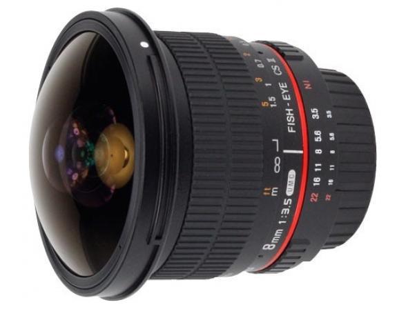 Объектив Samyang 8mm f/3.5 AS IF UMC Fish-eye CS II AE Nikon F