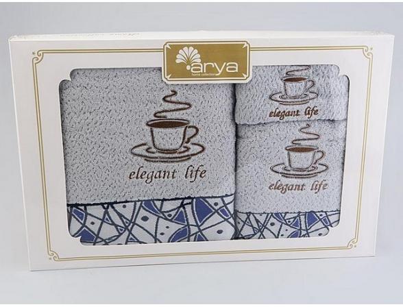 Комплект полотенец ARYA Хлопок DOLI