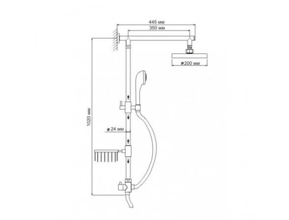 Душевой комплект WasserKRAFT А015