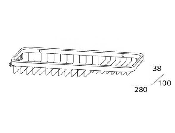 Полочка-решетка комбинированная FBS RYNA RYN 024