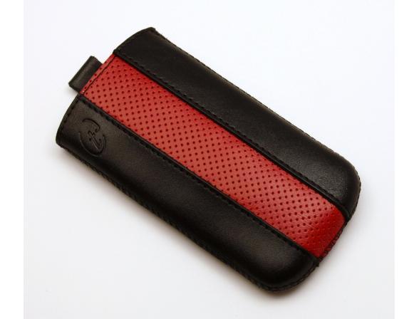 Чехол Time с ремешком комбинированный HTC Sensation XL черный с красным